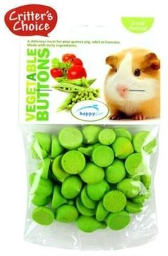 4 X 40g Happy Pet CRITTERS CHOICE Small Animal Vegetable Buttons - Guinea Pig in Pet Supplies, Small Animal Supplies, Food | eBay