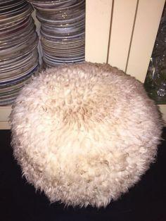 Vintage 60's Sheepskin Hippie Boho Fur Cream Hat   eBay