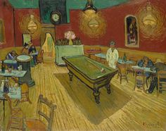 The Night Café by van Gogh was painted in September 1888 while he was living in Arles. Find out more about this work and why it is one of Van Gogh's most famous works. Vincent Van Gogh, Painting Frames, Painting Prints, Fine Art Prints, Painting Art, Van Gogh Paintings, Great Paintings, Canvas Artwork, Canvas Prints