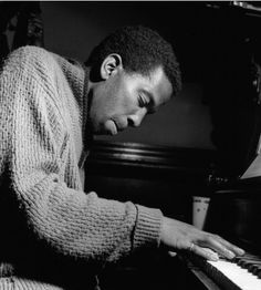 Sonny Clark (1931-1963) plays the piano during the rehearsal for Dexter Gordon's Go! album (1962). Photo by Francis Wolff.