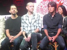 I am not sure whats going on this series of photos but love the faces mike and Chester are making!!