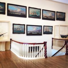 jesshaberman: Peabody Essex Museum A gorgeously decorated wall #ships #PEM