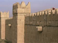 NINEVEH (Iraq) - part of the old wall of the city