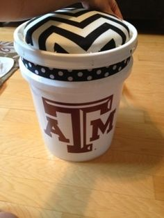 5 gallon paint bucket stool... But in FSU of course!