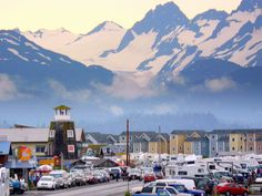 Homer Alaska Early Morning. I always forget how crowded the Spit gets in the summer!