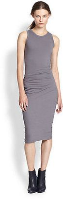 James Perse Ruched Stretch Cotton Tank Dress $135.00 thestylecure.com