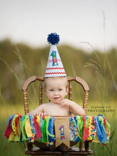 Project Nursery - DIY High Chair Bunting and 1st Birthday Hat