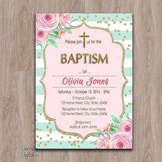 christening invitations baptism invitation print yourself