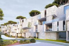 This modular social housing project in Morocco utilizes passive sustainable principles to create a sustainable neighborhood.