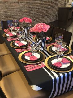 """Our Kate Spade inspired """"Girls Night In"""" dinner party. 40th Birthday Decorations, Dinner Party Decorations, Party Centerpieces, Birthday Brunch, Brunch Party, 50th Birthday Party, Kate Spade Party, Barbie Party, My Funny Valentine"""