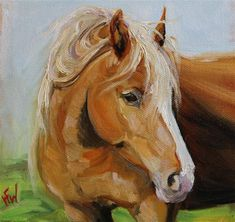 "Daily+Paintworks+-+""Golden+Palomino""+-+Original+Fine+Art+for+Sale+-+©+H.F.+Wallen"