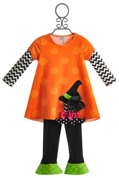 would love this in a rainbow pattern  Peaches 'N Cream Little Girls Halloween Dress and Legging $61.00