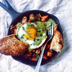 Weekend Brunch make a hash over a skillet with your leftover ham from Christmas or turkey…