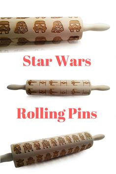 Star Wars, Star Wars Rolling Pins, Baking, Engraved Rolling Pins