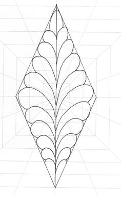 A simple diamond created using the square Ultimate Stencil and filled with feathers.