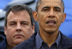 Barack Obama and Chris Christie in New Jersey, 10/31/12. Note: this did not deny Romney the ...