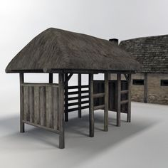 medieval stables/barn