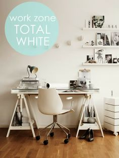 Inspiración: Un despacho de estilo nórdico TOTAL WHITE
