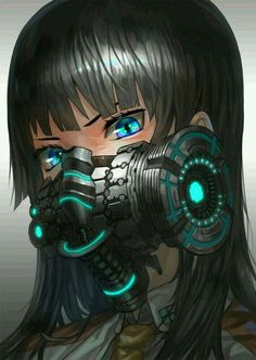 Find images and videos about anime, kawaii and anime girl on We Heart It - the app to get lost in what you love. Anime Mascaras, Mascara Anime, Gas Mask Art, Masks Art, Gas Masks, Cyberpunk Anime, Cyberpunk Art, Character Inspiration, Character Art
