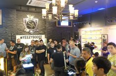 Packed! Yeezy Boost 350 launch last June 27.