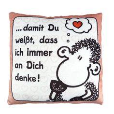 Sheepworld 42389 Plüschkissen Denke Sheepworld