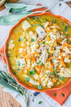 Slow Cooker Turkey Barley Soup from The Food Charlatan