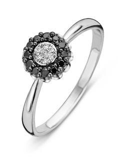 Black witgouden ring
