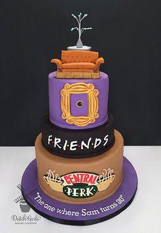 Friends Central Perk TV-Show Geburtstagstorte von Dutch Girls Baking Co. Friends Birthday Cake, Friends Cake, Themed Birthday Cakes, 30th Birthday Parties, Birthday Dinners, Birthday Cake Girls, Friends Tv, Themed Cakes, Friends Series