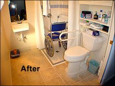 Redesign a Tiny Bathroom to make it a Handicap Wheelchair Accessible Bathroom