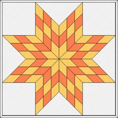 Guide to making different sized Lone Star blocks (small to king size quilt! Lone Star Quilt Pattern, Barn Quilt Patterns, Star Quilt Blocks, Star Quilts, Easy Quilts, Star Patterns, Canvas Patterns, Quilting Projects, Quilting Designs