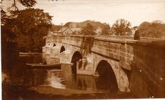 Otley near Leeds - West Yorkshire - England - Old Bridge - 1910
