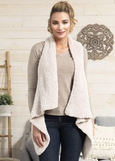 Free Knitting Pattern for a Drape Front Vest Free Knitting Patterns For Women, Cable Knitting Patterns, Knit Patterns, Pattern Draping, Knit Vest Pattern, Dress Patterns, Free Pattern, Clothes For Women, Outfits