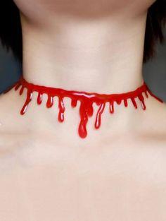 Collar Gargantilla embellecido Sangre de Halloween