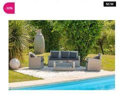 Salon de jardin design Talisman ATYLIA en résine tressée prix promo ...