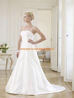 Festliche Schlichte Hochzeitskleider aus Taft