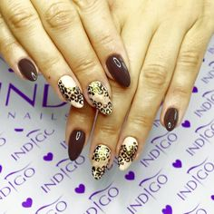 Jesienne kolory - Nostalgia, Ivory, Swiss Chocolate + pantera wykonana żelem Arte Brillante Black Poison przez Indigo Educator Agatę Kaczmarek :) #autumn #nails #gelnails #polish Indigo Nails, Welcome To The Jungle, Nails Inspiration, Nail Ideas, Nailart, Nostalgia, Beauty, Bright Art, Cosmetology