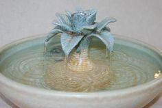 "Cat Water Fountain - Pet Fountain - Indoor Fountain - 12 Inch Diameter - ""Jamaica Bay"""