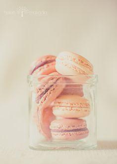 Macaroons in a Jar, Warm Tones, Dreamy, Dessert, Pastry, Pastry Art, Kitchen Art, Home Decor, Cafe Shop Art, 5x7 Print
