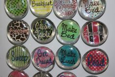 More for the chore chart. I'l loving the idea of magnets.
