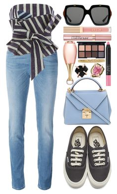 """""""#111"""" by theevilraccoon ❤ liked on Polyvore featuring Johanna Ortiz, Givenchy, Vans, Mark Cross, Gucci, Stila, L'Oréal Paris, Christian Dior, Melissa Joy Manning and NARS Cosmetics"""