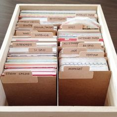 With just a few supplies, organize and contain your Project Life card collection with this simple tutorial. With just a few supplies, organize and contain your Project Life card collection with this simple tutorial. Project Life Organization, Project Life Storage, Study Organization, Scrapbook Organization, Medicine Organization, Project Life Karten, Project Life Cards, Project Life Scrapbook, Study Room Decor