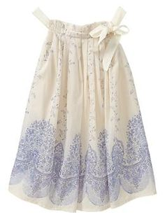 Printed bow dress | Gap
