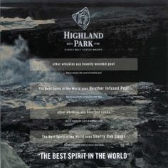 Highland park Touch to Smell handout - four differing aromas.