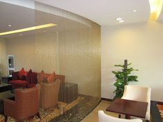 Bead chain curtain for interior decoration