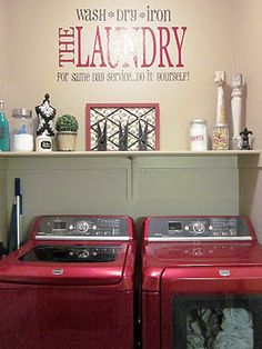 Ideas About Red Laundry Rooms On Pinterest Laundry Laundry Rooms
