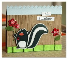 """So """"stinkin"""" cute!! Again, made with DCWV: The Green Stack."""