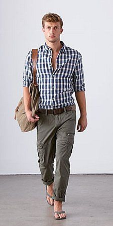 Love the shirt... not sure about the cargo pants... rather a pair of chinos or shorts... ;-)