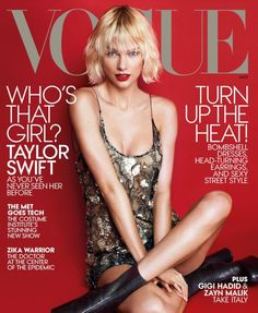 Anna Wintour 'Loves' Taylor Swift's New. Anna Wintour 'Loves' Taylor Swift's New Look on 'Vogue'… Taylor Swift Moda, Style Taylor Swift, Taylor Swift New, Swift 3, Vogue Magazine Covers, V Magazine, Vogue Covers, Female Magazine, Magazine Titles