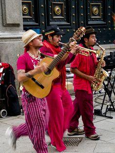 Street musicians, Barcelona