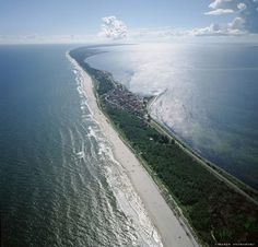The Hel Peninsula is a 35-km-long sand bar peninsula in northern Poland separating the Bay of Puck from the open Baltic Sea.